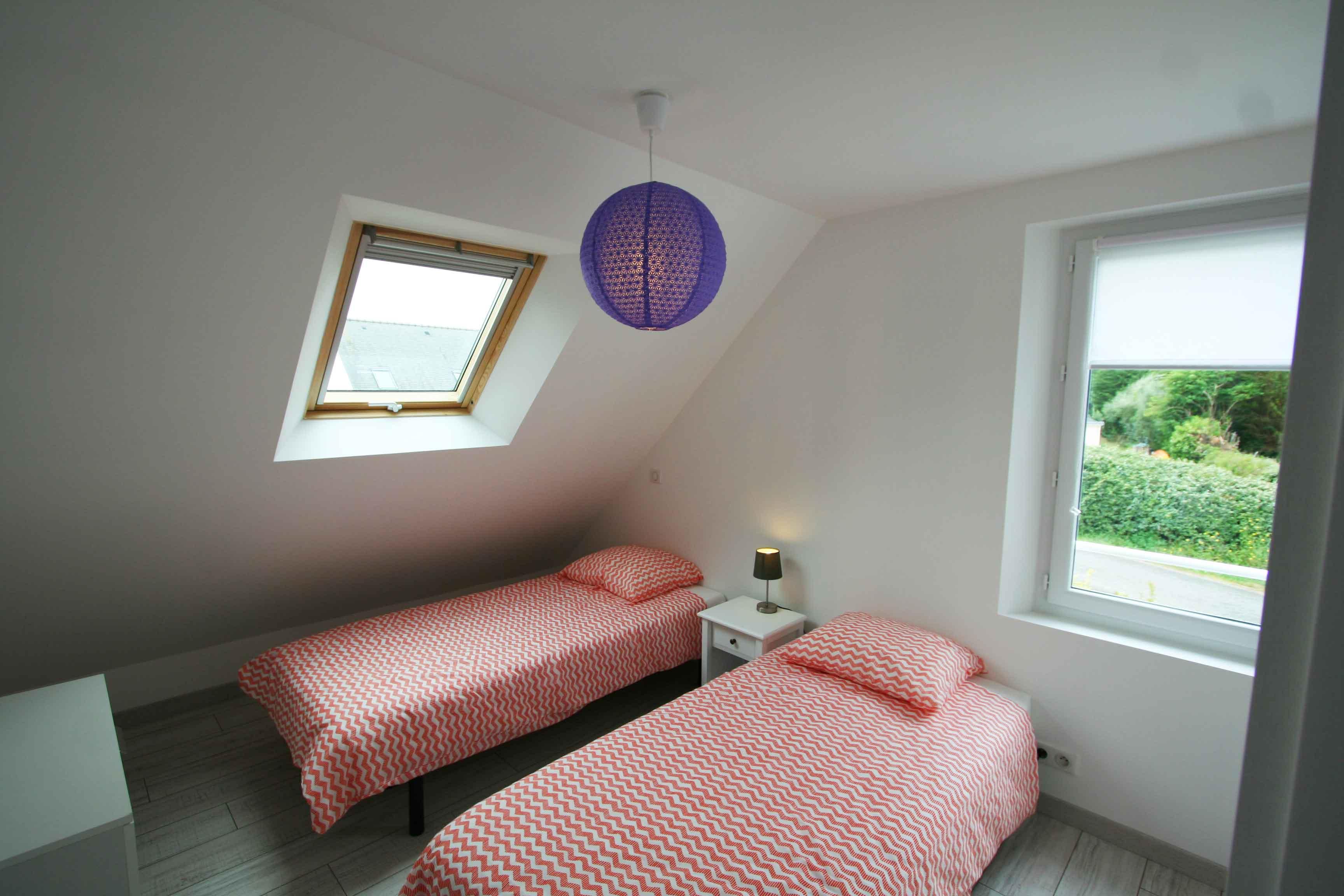 Chambre Port Jean à l'étage avec 2 lits simples