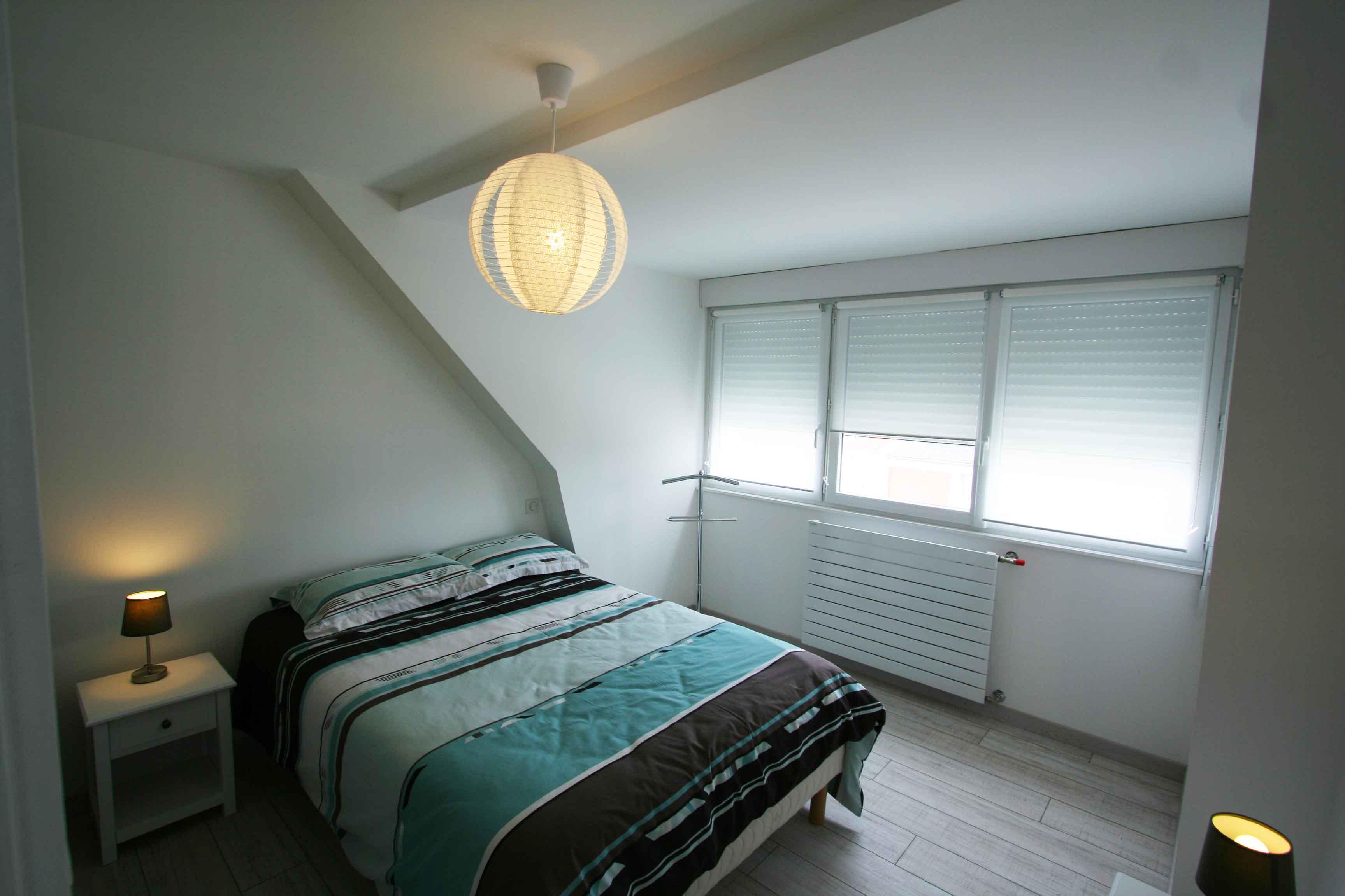 Chambre Bangor à l'étage avec lit double